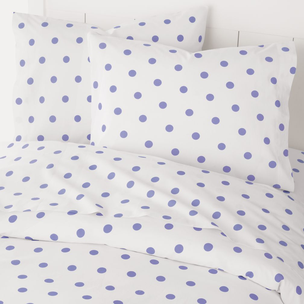 Polka Dot Duvet Cover (Purple)