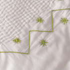 Green Embroidery Coverlet