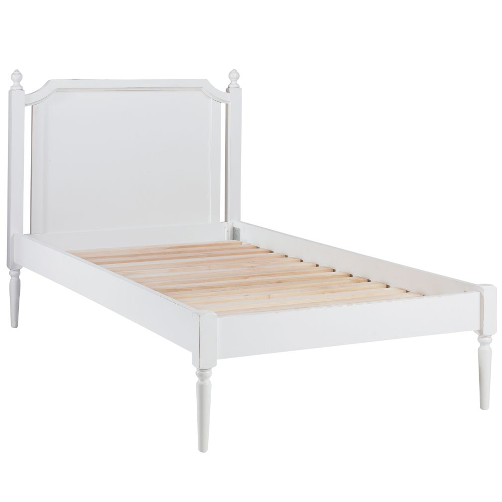 Twin White Petite Marguerite Bed