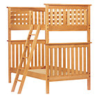 Natural Twin Simple Bunk Bed