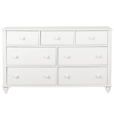 White 7-Drawer Dresser