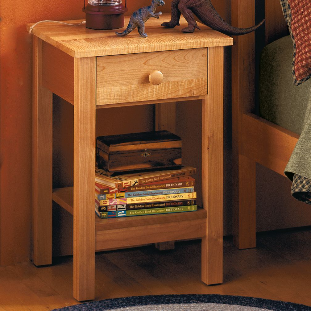 Wood simple nightstand pdf plans for Simple nightstand designs