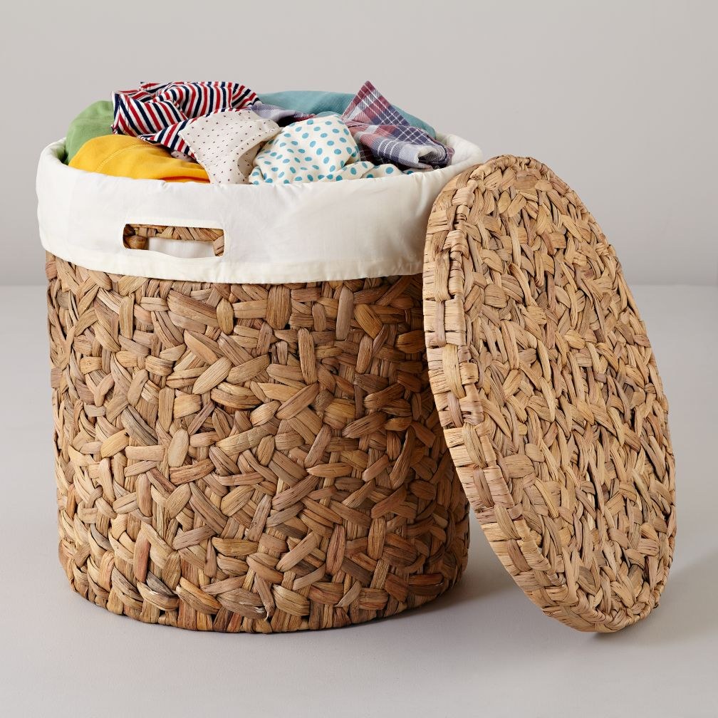 Water Hyacinth Hamper &amp; Liner