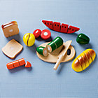 Wooden Cutting Food Play Set