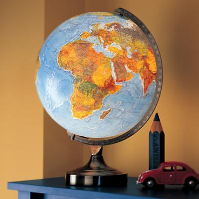 Illuminated World Lamp in Nightlights | The Land of Nod