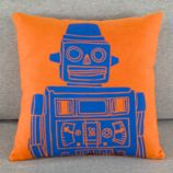Robo-Throw Pillow (Orange)