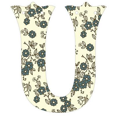 U Fancy Font Wallpaper Letter