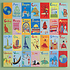 World Alphabet Canvas Wall Art