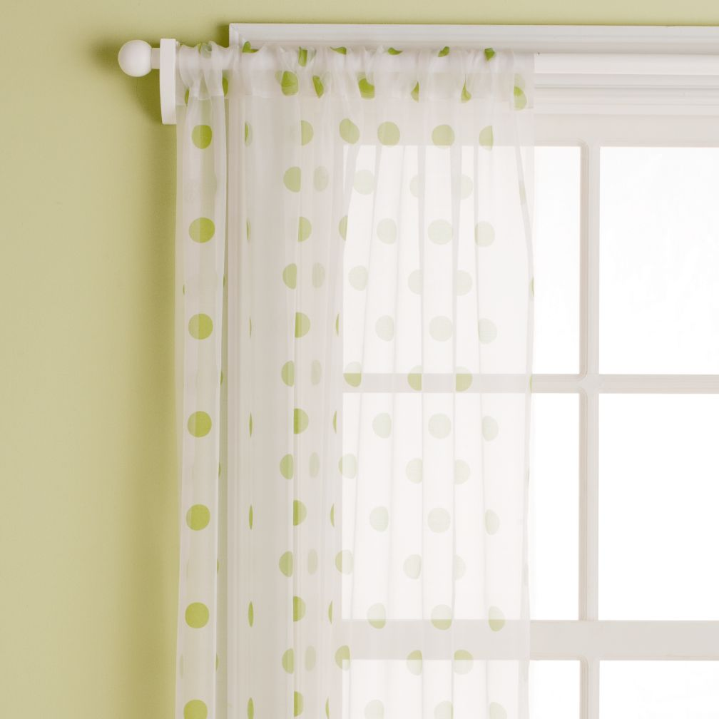 Dot Curtain Panels (Green)