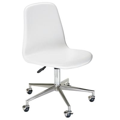 White Class Act Desk Chair