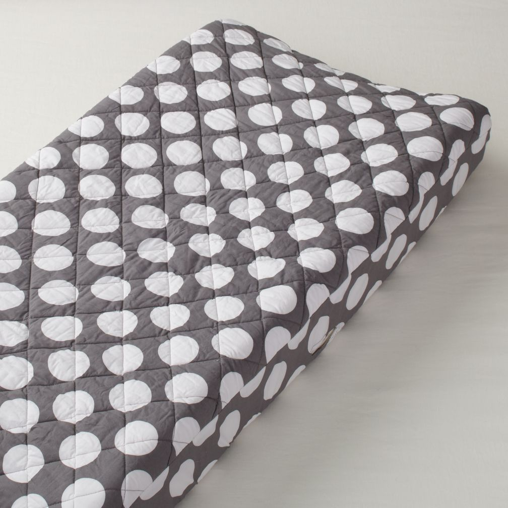 Changer Pad Cover (Grey with White Dot)