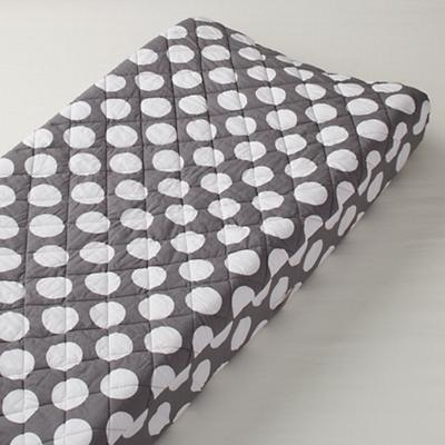 Not a Peep Changing Pad Cover (Grey w/White Dot)