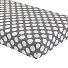 Grey Dot Crib Fitted Sheet