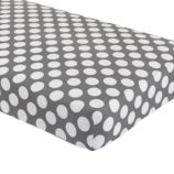 Crib Fitted Sheet (Grey Dot)