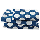 Twin Blue w/White Dot Sheet Set(includes 1 fitted sheet, 1 flat sheet and 1 case)