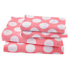Full Pink Dot Sheet Set(includes 1 fitted sheet, 1 flat sheet and 2 cases)