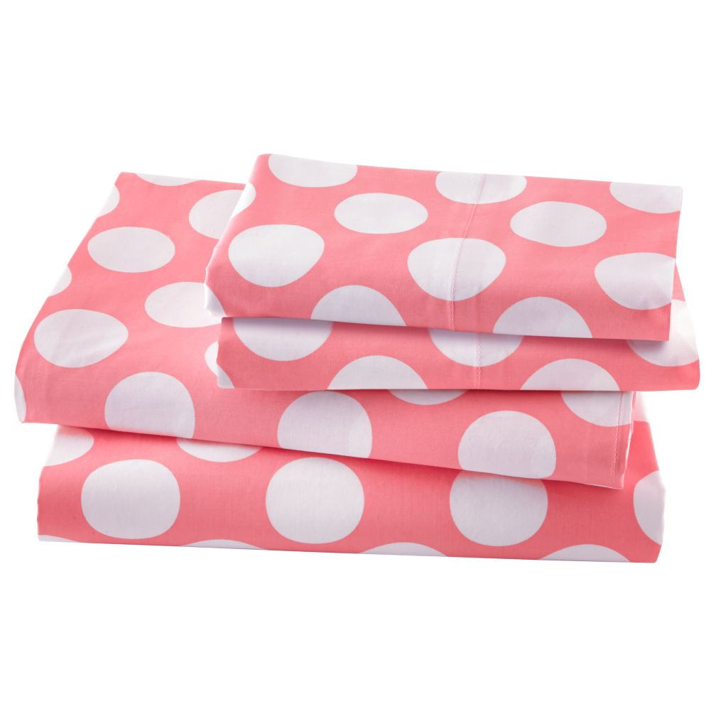 New School Pink Dot Sheet Set (Full)