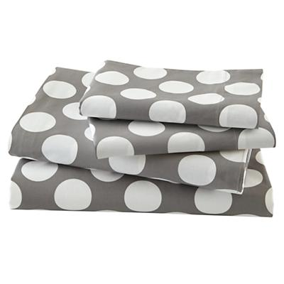 New School Grey w/White Dot Sheet Set (Queen)
