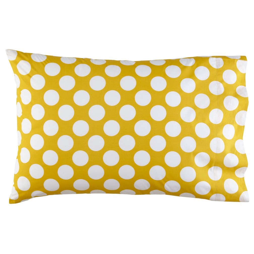 New School Yellow Dot Pillowcase