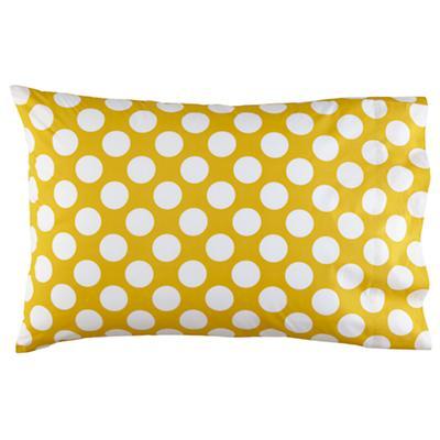 New School Yellow w/White Dot Pillowcase