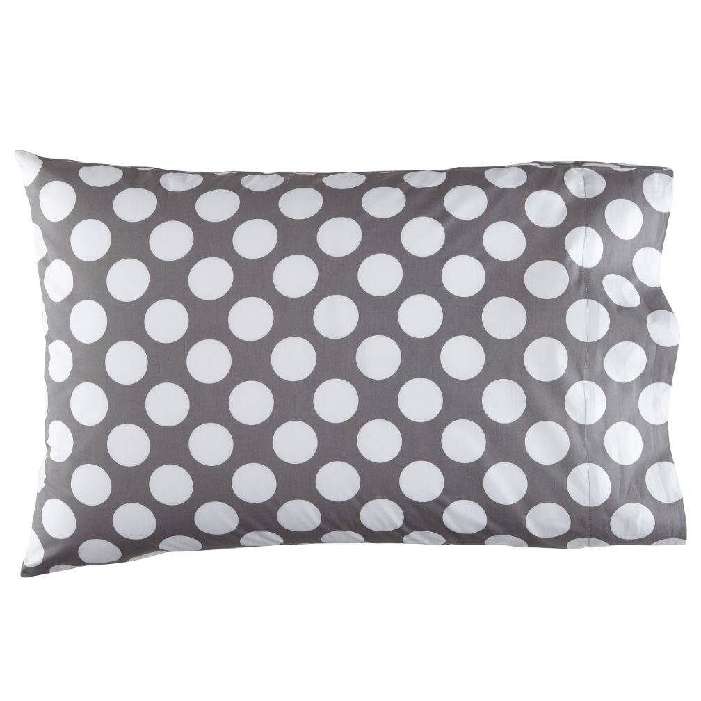 New School Grey Dot Pillowcase