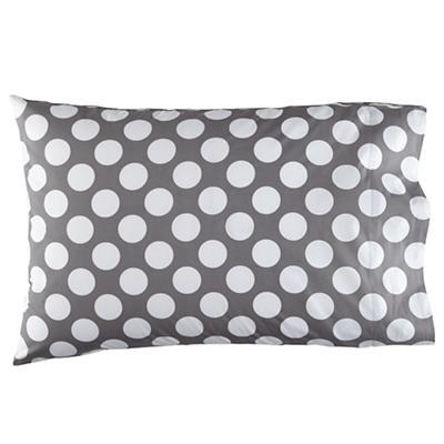 New School Grey w/White Dot Pillowcase
