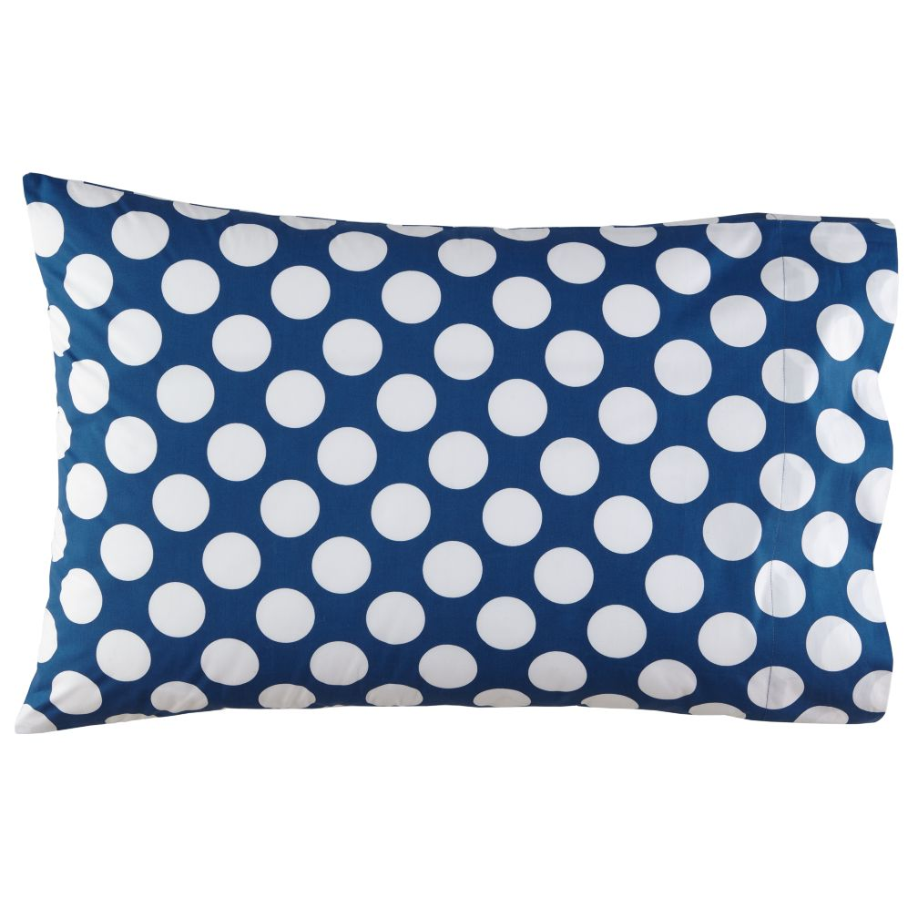New School Blue Dot Pillowcase