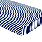 Blue Striped Crib Fitted Sheet