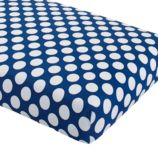 New School Crib Fitted Sheet (Blue Dot)