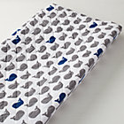 Blue & Grey Whale Changing Pad Cover