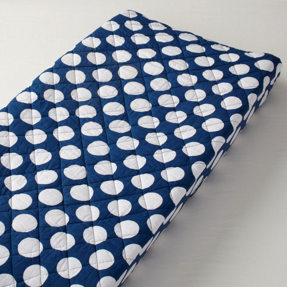 New School Changing Pad Cover (Blue Dot)