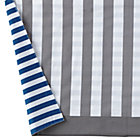 Blue/Grey Striped Reversible Crib Skirt