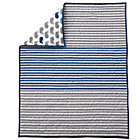 Blue Stripe Whale Crib Quilt