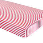Pink Stripe Crib Fitted Sheet