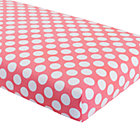 Pink Dot Crib Fitted Sheet