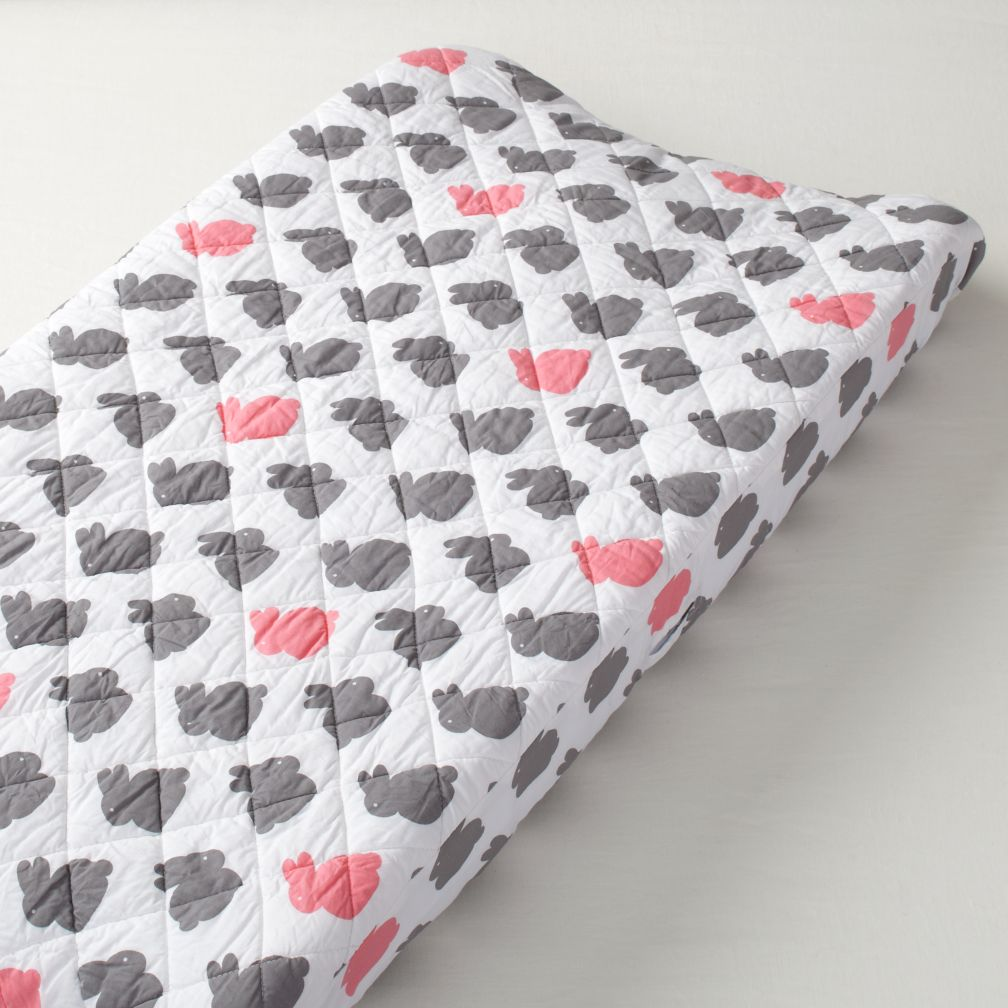 New School Changing Pad Cover (Bunny)