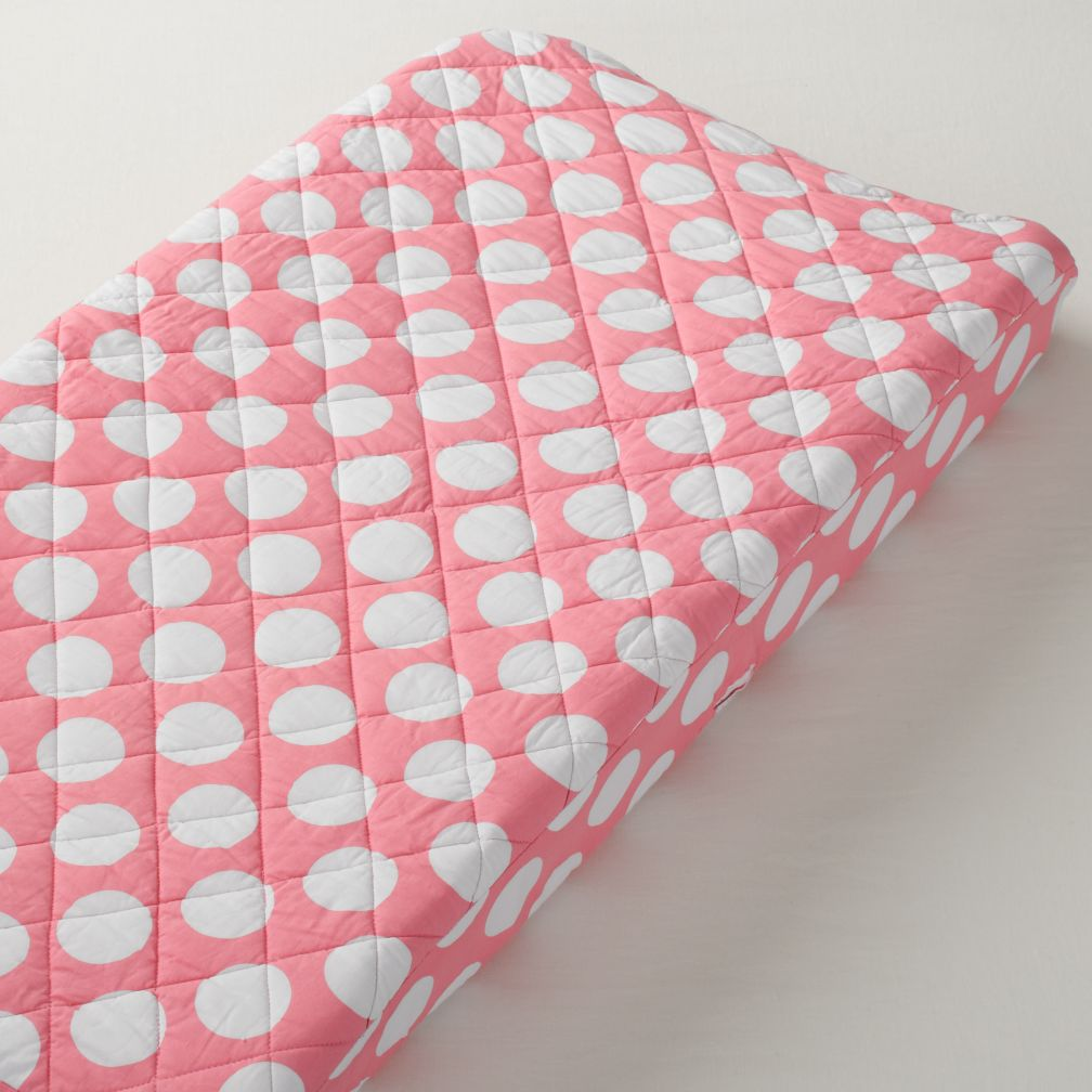 New School Changing Pad Cover (Pink Dot)