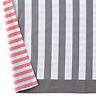 Pink & Grey Stripe Reversible Crib Skirt