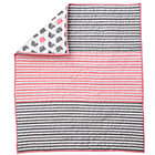 Pink Stripe Crib Quilt