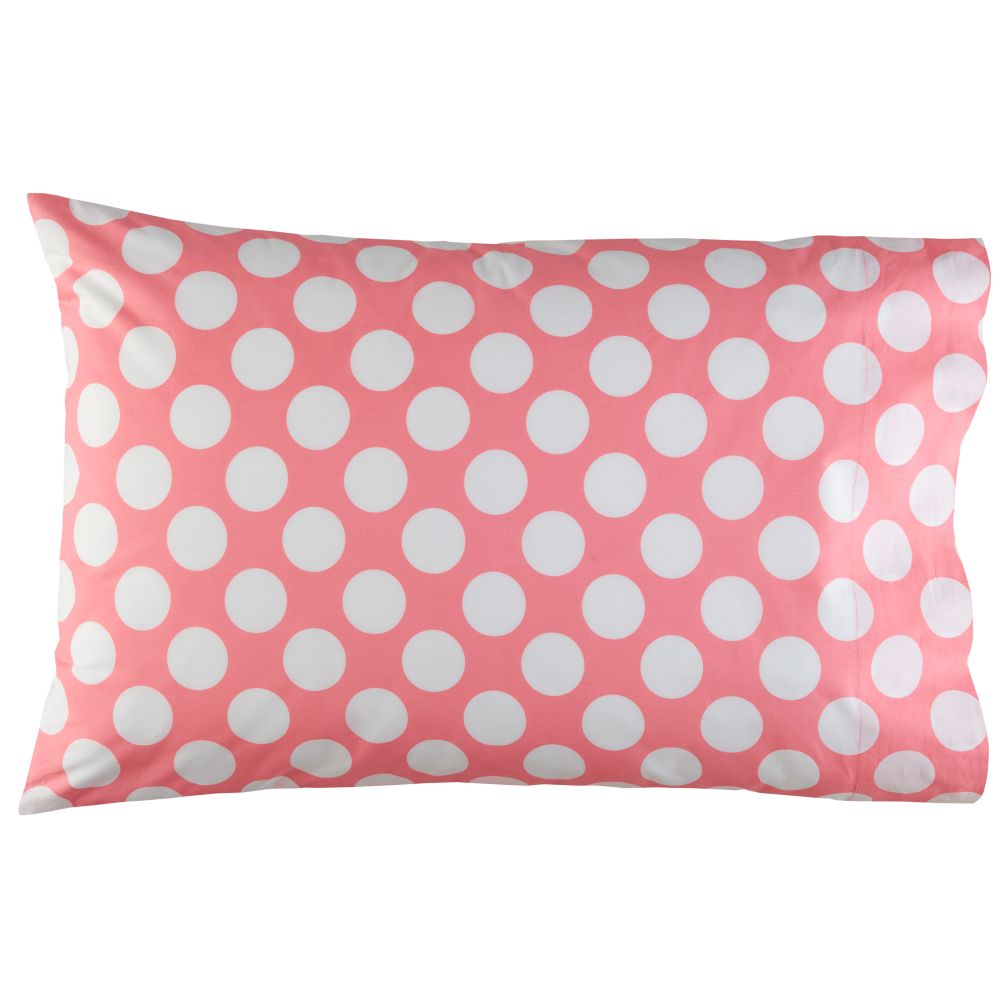 New School Pink Dot Pillowcase