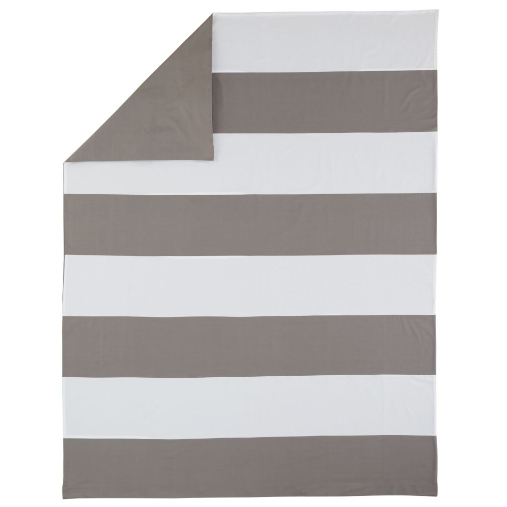 Twin Grey Widest Stripe Duvet Cover