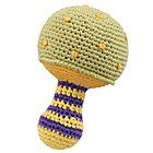 Green Knit Mushroom Rattle