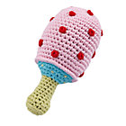 Pink Knit Mushroom Rattle