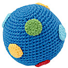 Dk. Blue Knit Ball Rattle