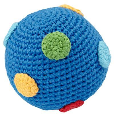Dk. Blue Knit Ball Rattle