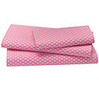 Pink Pli&amp;#233; Twin Sheet Set(includes 1 fitted sheet, 1 flat sheet and 1 case)