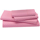 Pink Pli&amp;#233; Full Sheet Set(includes 1 fitted sheet, 1 flat sheet and 2 cases)