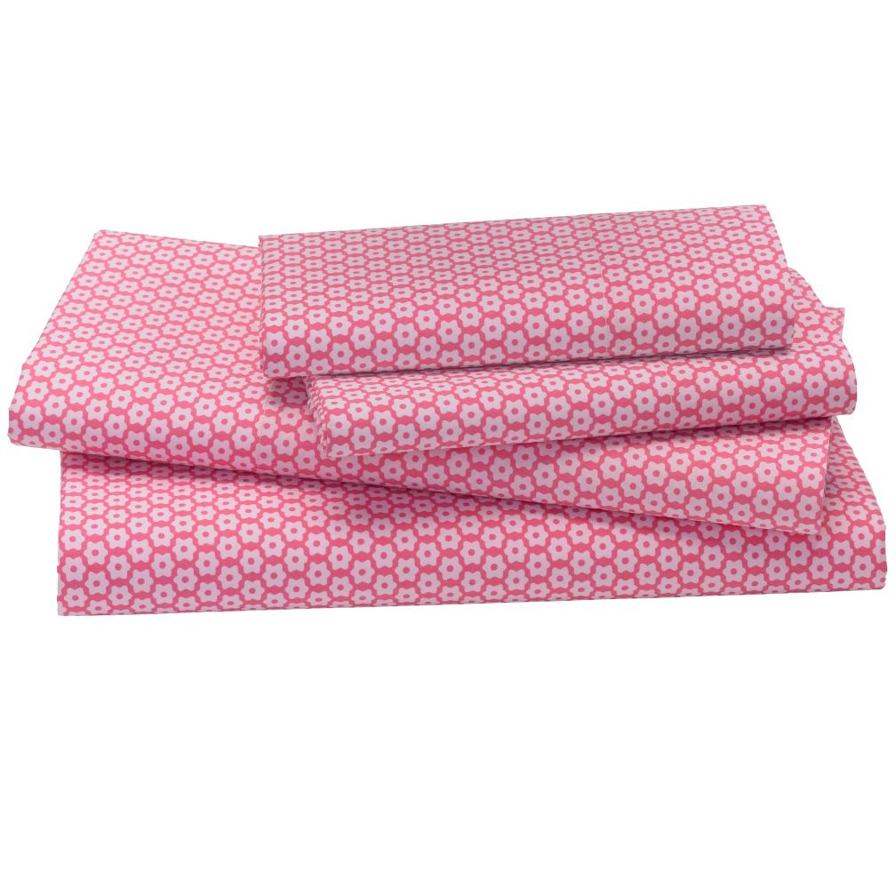 Little Pink Flowers Sheet Set (Queen)