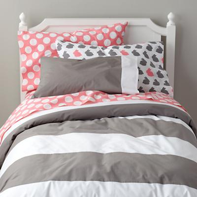 New School Sheet Set (Pink w/White Dot)