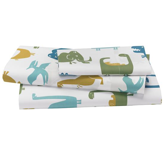 Land Registry Restrictions >> When Dinosaurs Roamed Sheet Set (Twin) | The Land of Nod